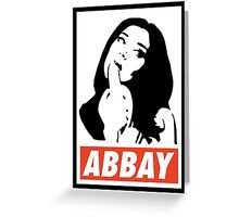 Abbay Greeting Card