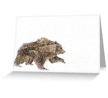 Arctic Snow Grizzly Bear Greeting Card