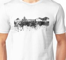 Naples skyline in black watercolor Unisex T-Shirt