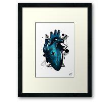 Heart - Stylish Beat (BLUE) Framed Print