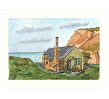 House in Cornwall - From Original Watercolour Art Print