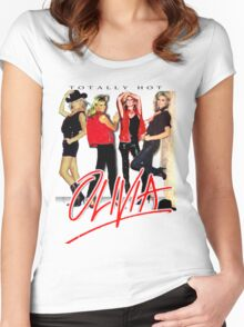 Olivia Newton-John Totally Hot Gallery Women's Fitted Scoop T-Shirt