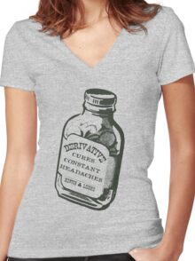 Derivative Funny Maths  Women's Fitted V-Neck T-Shirt