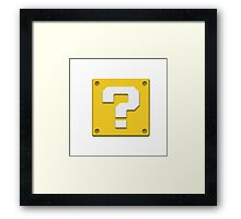 Item Block Framed Print