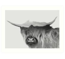 Highland Cow of the Black Cullins Art Print