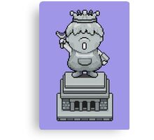 King Pokey Statue - Mother 3 Canvas Print