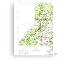USGS TOPO Map Arkansas AR Powhatan 260258 1935 62500 Canvas Print