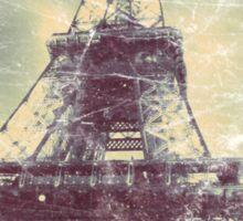 Eiffel Tower, Aged Image Sticker
