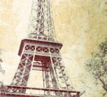 Eiffel Tower, Vintage Effect Image Sticker