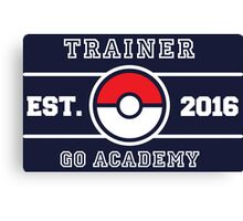 Trainer Go Academy Canvas Print