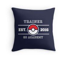 Trainer Go Academy Throw Pillow