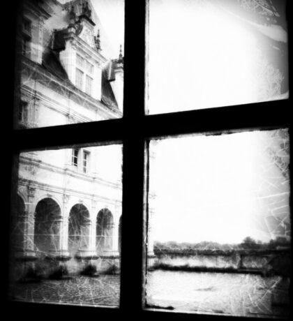 French Chateau through a window Sticker