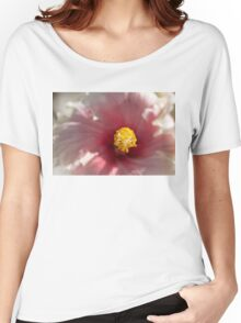 Hibiscus macro  Women's Relaxed Fit T-Shirt