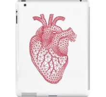red human heart with geometric mesh pattern iPad Case/Skin