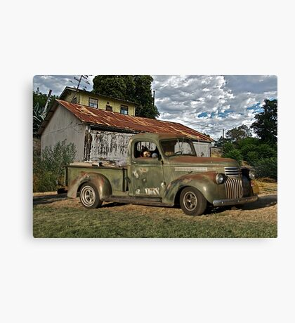 1946 Chevrolet Pickup Truck ' A Survivor' Canvas Print