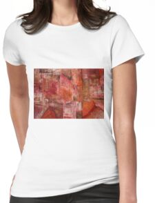rusty punk abstract Womens Fitted T-Shirt