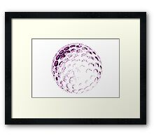 glass ball Framed Print