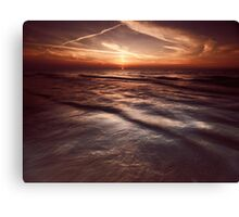 Dramatic sunset at lake Huron Grand Bend art photo print Canvas Print