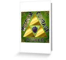 Triforce Greeting Card
