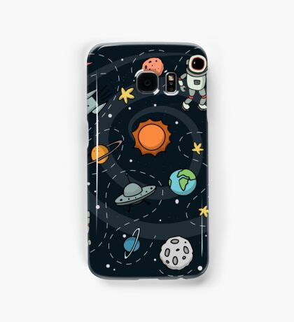 Outer Space Planetary Illustration Samsung Galaxy Case/Skin