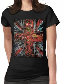 union jack abstract Womens Fitted T-Shirt
