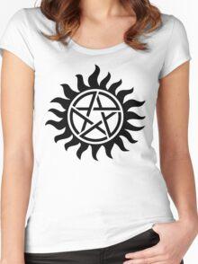 Supernatural Tattoo (black) Women's Fitted Scoop T-Shirt