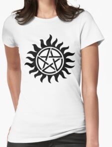 Supernatural Tattoo (black) Womens Fitted T-Shirt