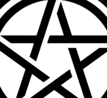 Supernatural Tattoo (black) Sticker