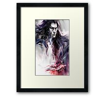 Come take him by his lilly-white hands Framed Print