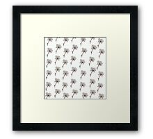Mix white, pink flowers Framed Print