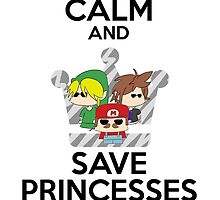 Keep calm and save princesses by RoxyRock