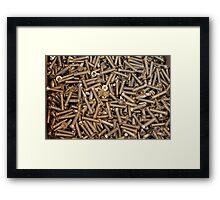 screws as  background Framed Print