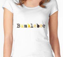 Bumblebee Sticker Women's Fitted Scoop T-Shirt