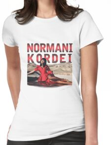 NORMANI KORDEI HAMILTON FROM FIFTH HARMONY Womens Fitted T-Shirt