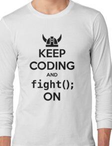 Vikings: Keep on coding Long Sleeve T-Shirt
