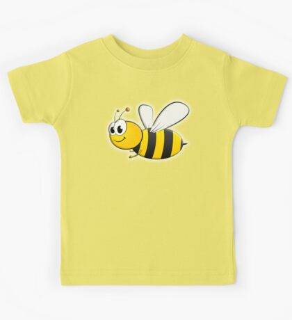 Cartoon, BEE, Bumble, Flying, Insects, Kids, Honey,  Kids Tee