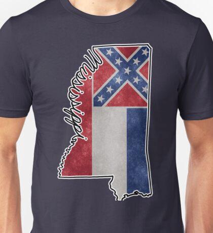 Mississippi State Outline Unisex T-Shirt