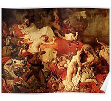 La Mort de Sardanapale death of saedanapalus Delacroix Poster