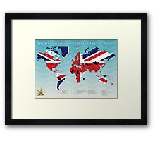 The 21 Countries not invaded by the British Map Framed Print