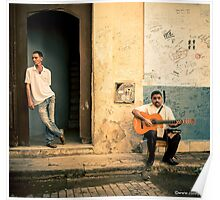 Street musician in Havana, Cuba Poster