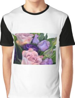 Purple and pink roses closeup  Graphic T-Shirt