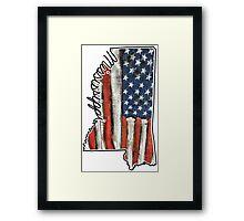 Mississippi USA Merica Murica! Framed Print