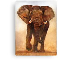 AFRICAN ELEPHANT BULL CHARGE Canvas Print