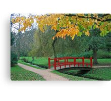 Red Bridge, Bournemouth Gardens Canvas Print