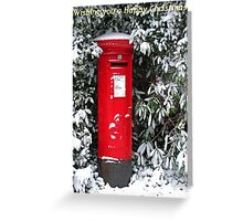 Post Box Christmas Card Greeting Card