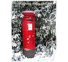 Post Box Christmas Card Poster