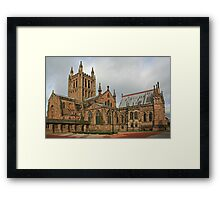Hereford Cathedral Framed Print