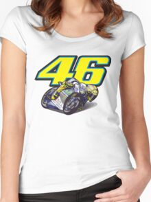 46 VR Women's Fitted Scoop T-Shirt