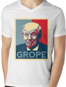 Donald Trump Grope Poster. (Obama hope parody) Mens V-Neck T-Shirt