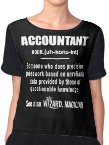 Accountant Gifts - Accountant Definition Shirt Chiffon Top